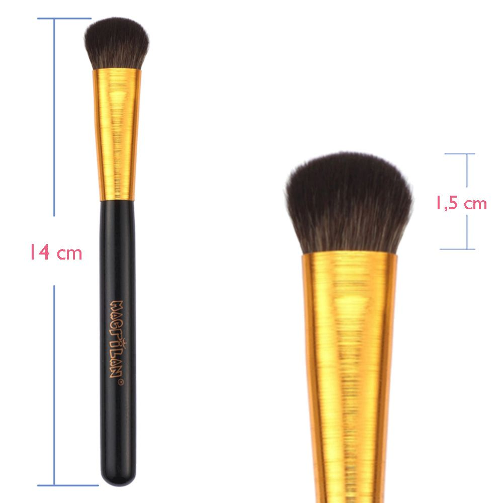 Pincel para Pó e Iluminador G122 Linha Gold - Macrilan