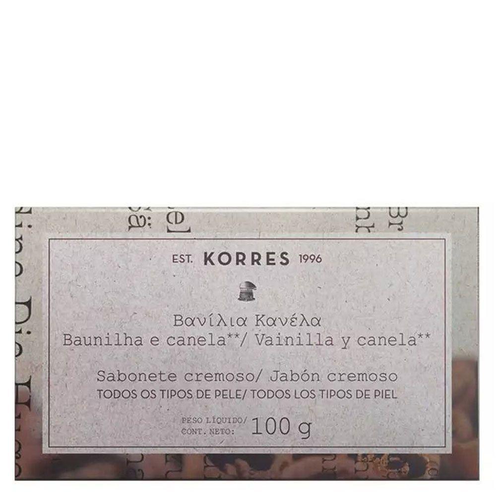 Sabonete Cremoso Baunilha e Canela 100g - Korres