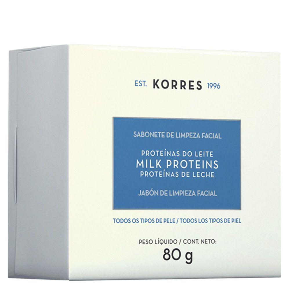 Sabonete de Limpeza Facial Proteínas do Leite 80g - Korres