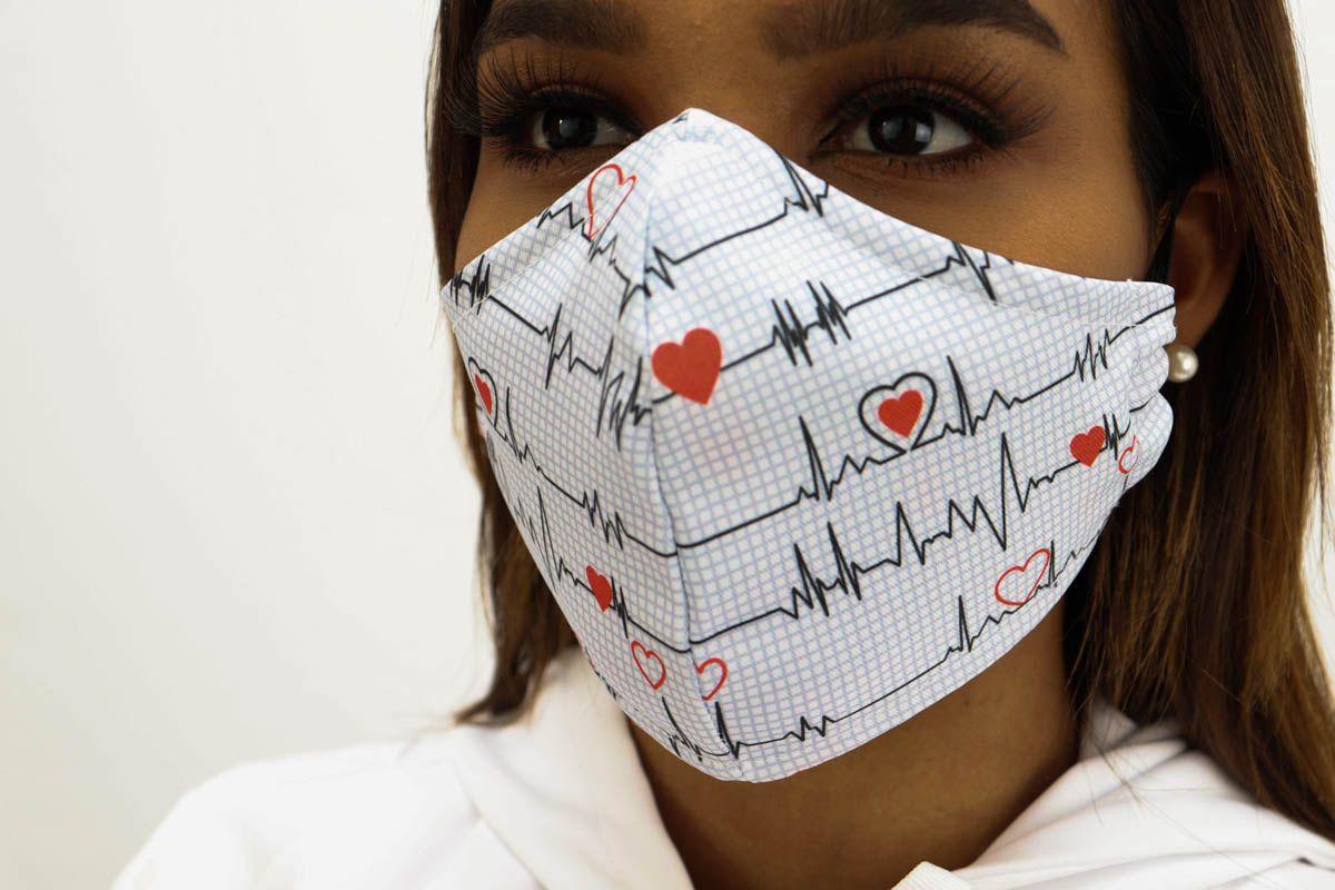 Máscara Anatômica Digitale Estampas Diversas