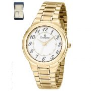 847f6f38186 Relógio Feminino Champion Dourado CH22368W + Kit Semijoias