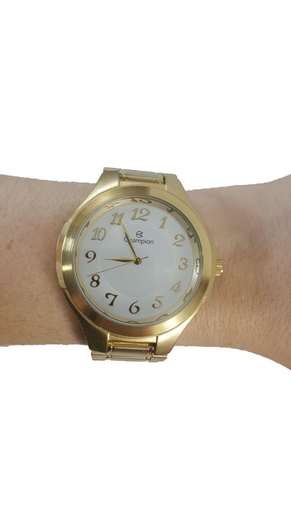 aa40c4434b8 ... Relógio Champion Analógico CN20140W Dourado + Kit Semijoias - Miranda  Shopping ...
