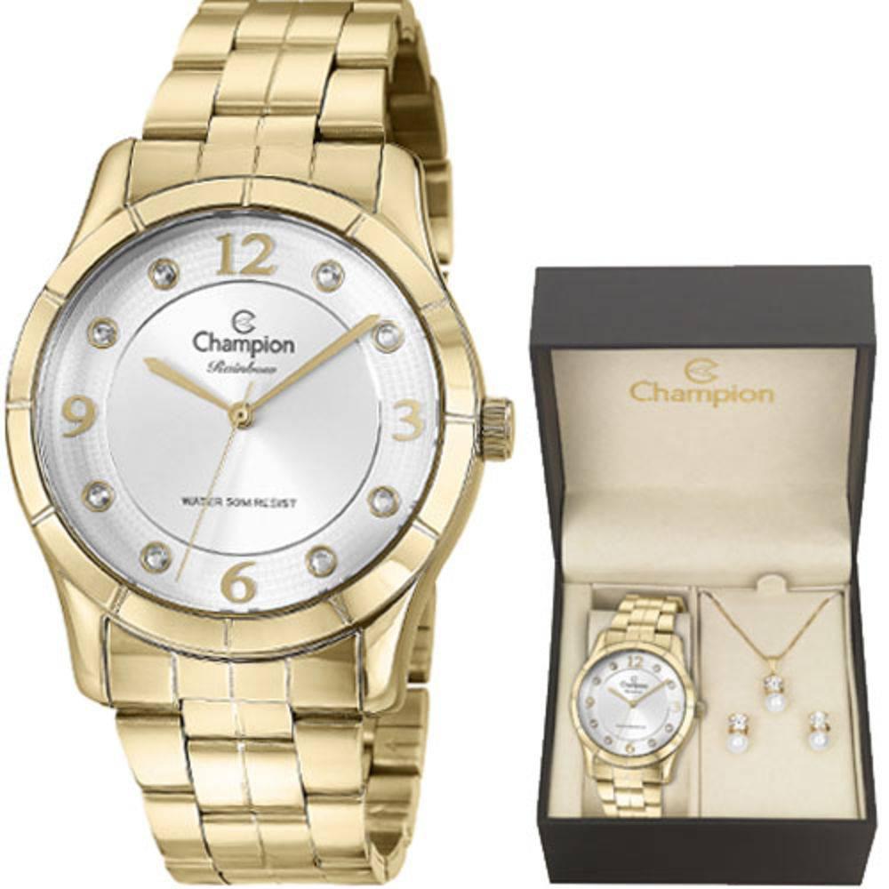 3f7d6bd8b29 Relógio Champion Feminino Rainbow Dourado CN29909W + Kit Semijoias -  Miranda Shopping ...