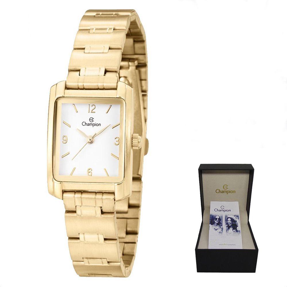 326fc730c6f Relógio Champion Pequeno Feminino Dourado CH25187E + Kit Semijoias -  Miranda Shopping ...