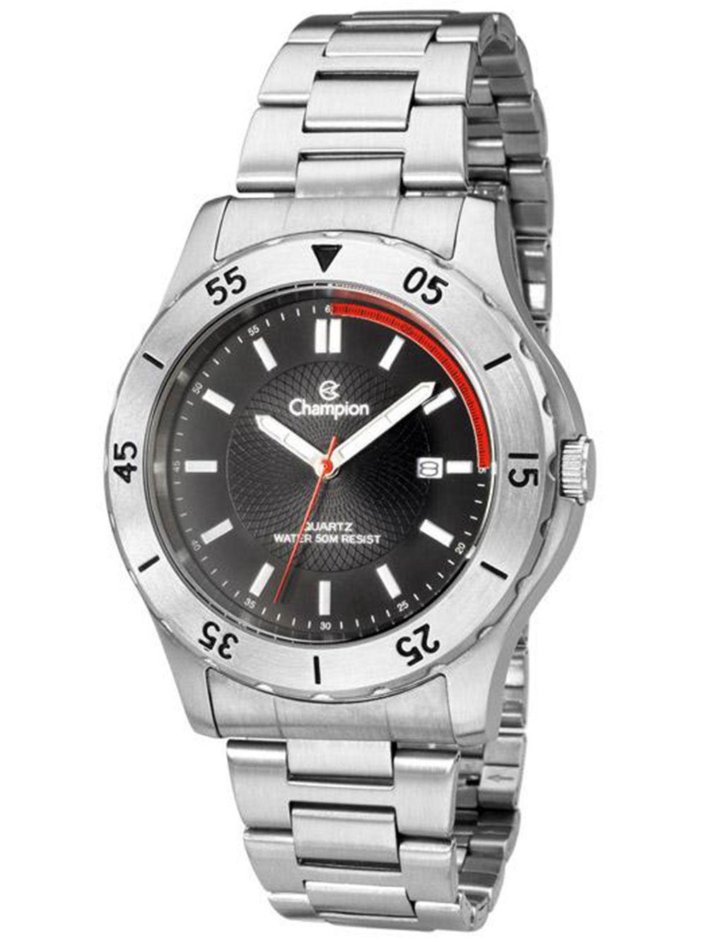 119eae9e854 Relógio Champion Prateado Masculino Analógico CA30169T - Miranda Shopping  ...