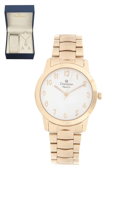 845784420f2 Relógio Feminino Champion Elegance Analógico CN26519W + Kit Semijoias -  Miranda Shopping ...