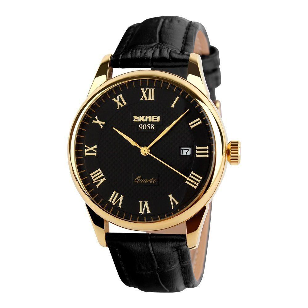 e3cbbc930b0 ... Relógio Masculino Skmei De Luxo Pulseira Couro Modelo 9058 - Miranda  Shopping