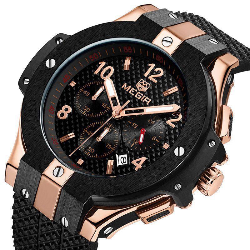 c965a5d244d Relógio Megir 2050 Com Cronógrafo Original Luxo - Miranda Shopping ...