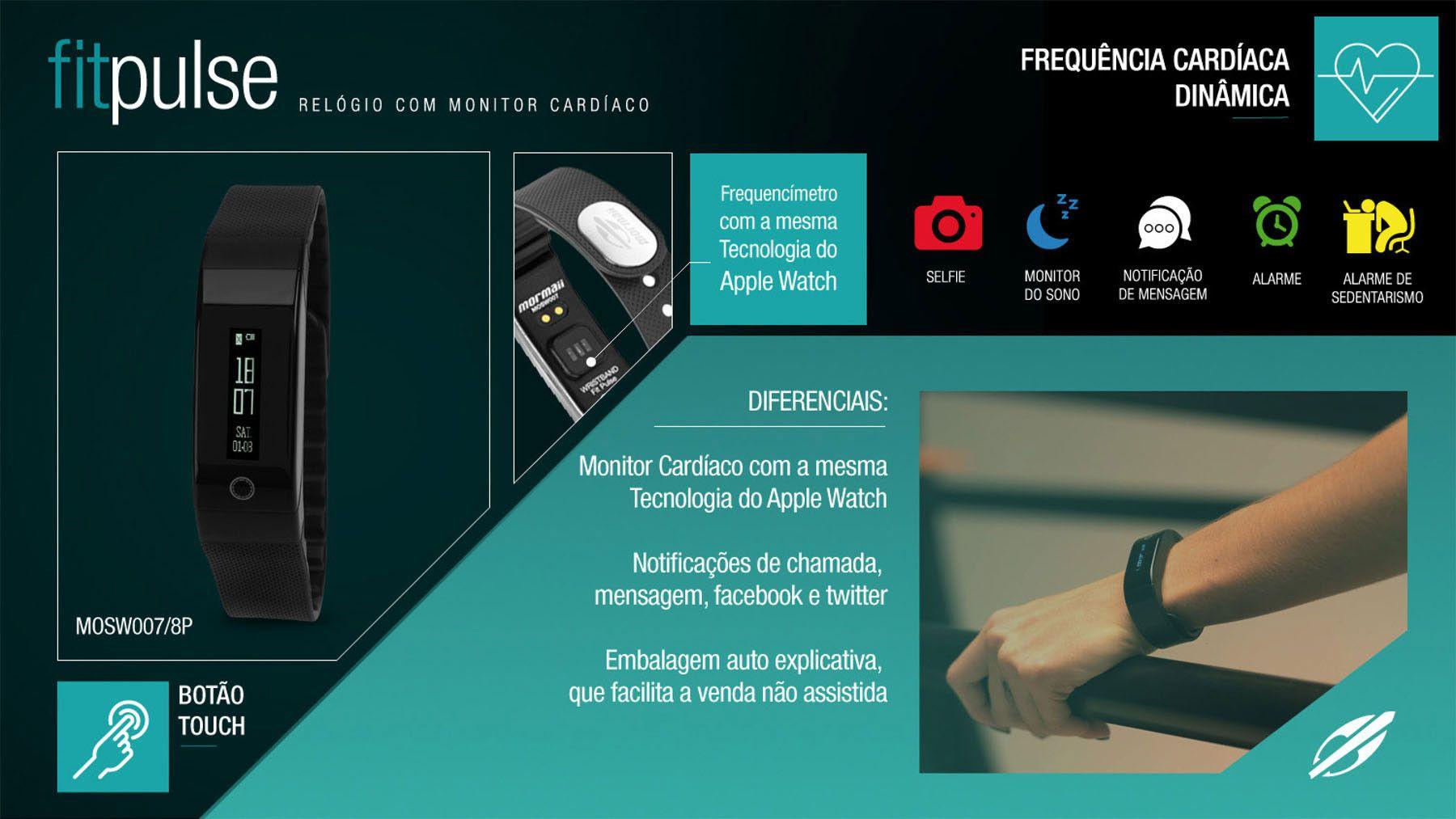 a305bd7a90b3a ... Relógio Mormaii Fitpulse Monitor Cardíaco Frequencímetro MOSW0078P  Digital - Miranda Shopping ...
