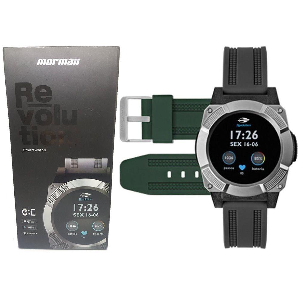 Relógio Mormaii Smartwatch Revolution MOSRAA8C 2 Pulseiras - Miranda  Shopping ... d46be13a0b