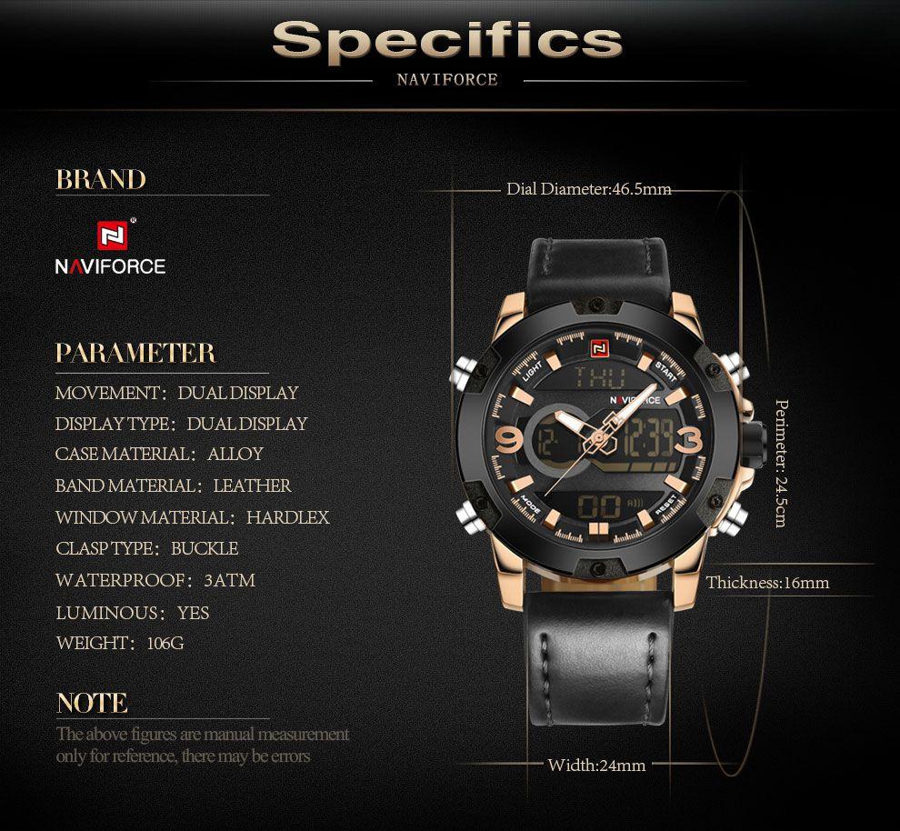 4d59a35545e ... Relógio Naviforce Modelo 9097 - Miranda Shopping ...