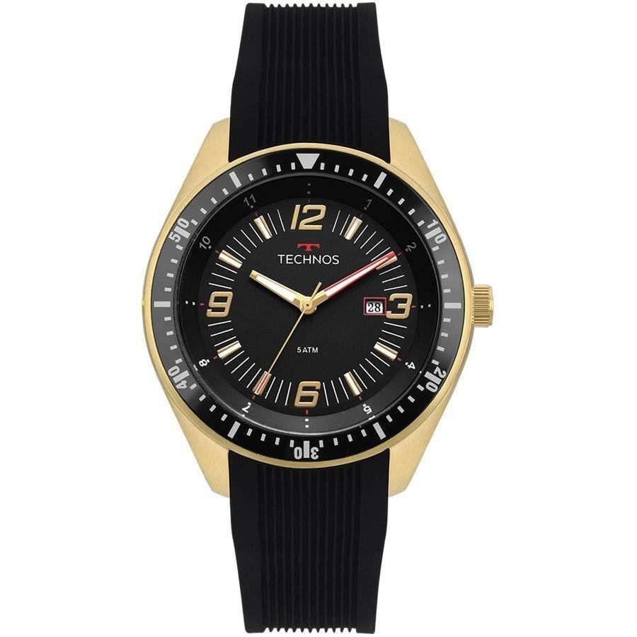 0a5e890846d Relógio Technos Masculino 2115MQS8P Racer Dourado - Miranda Shopping ...