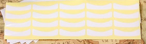 10 pares Adesivo branco protetor alongamento cilios