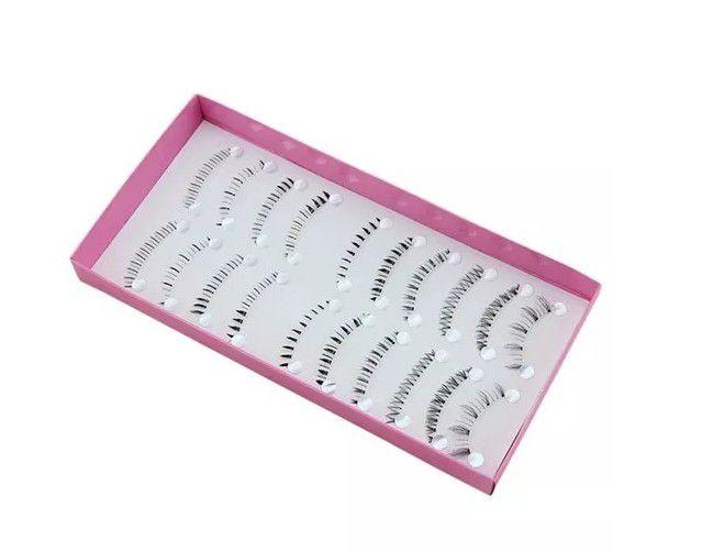 10 pares cílios postiços inferiores ZH-01