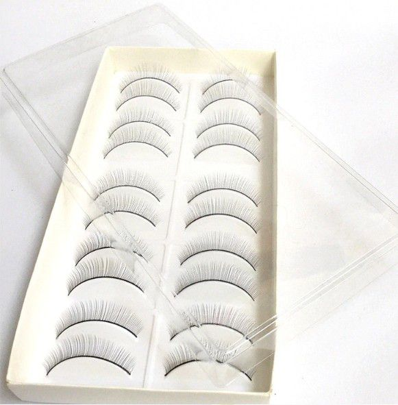 10 pares cílios postiços para treino de alongamento de cílios