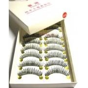 10 pares cilios postiços 016