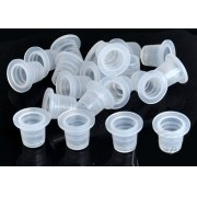 Kit com 25 Batoque plástico Transparente PP