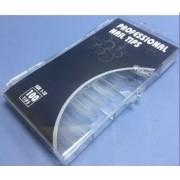 Caixa 100 Tips curvatura C Transparente