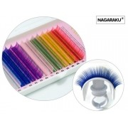 Cílios coloridos fio a fio estojo D 0.12 Nagaraku