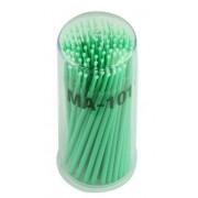 Kit 100 escovas de microfibra MA-101 Fine (verde) para remoção cilios