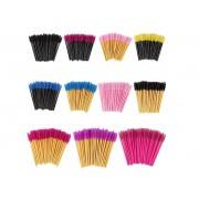 Kit com 50 Bastões escovinha para pentear cílios e sobrancelhas