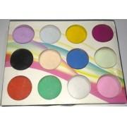 Kit Pó Acrilico 12 cores para Unha Porcelana