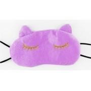 Mascara de dormir gatinho lilás