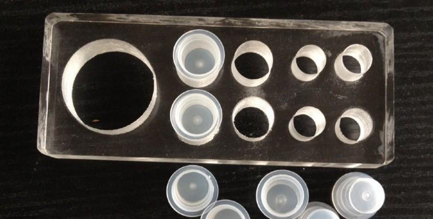 Base acrílica para 9 batoques -4 tamanhos