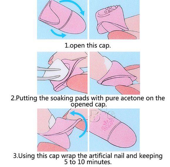 Capa de silicone para remoção de alongamento de unhas