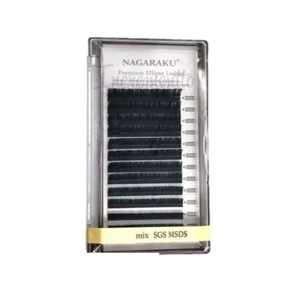Cílios Ellipse Tesourinha Mix 7 a 15mm Nagaraku