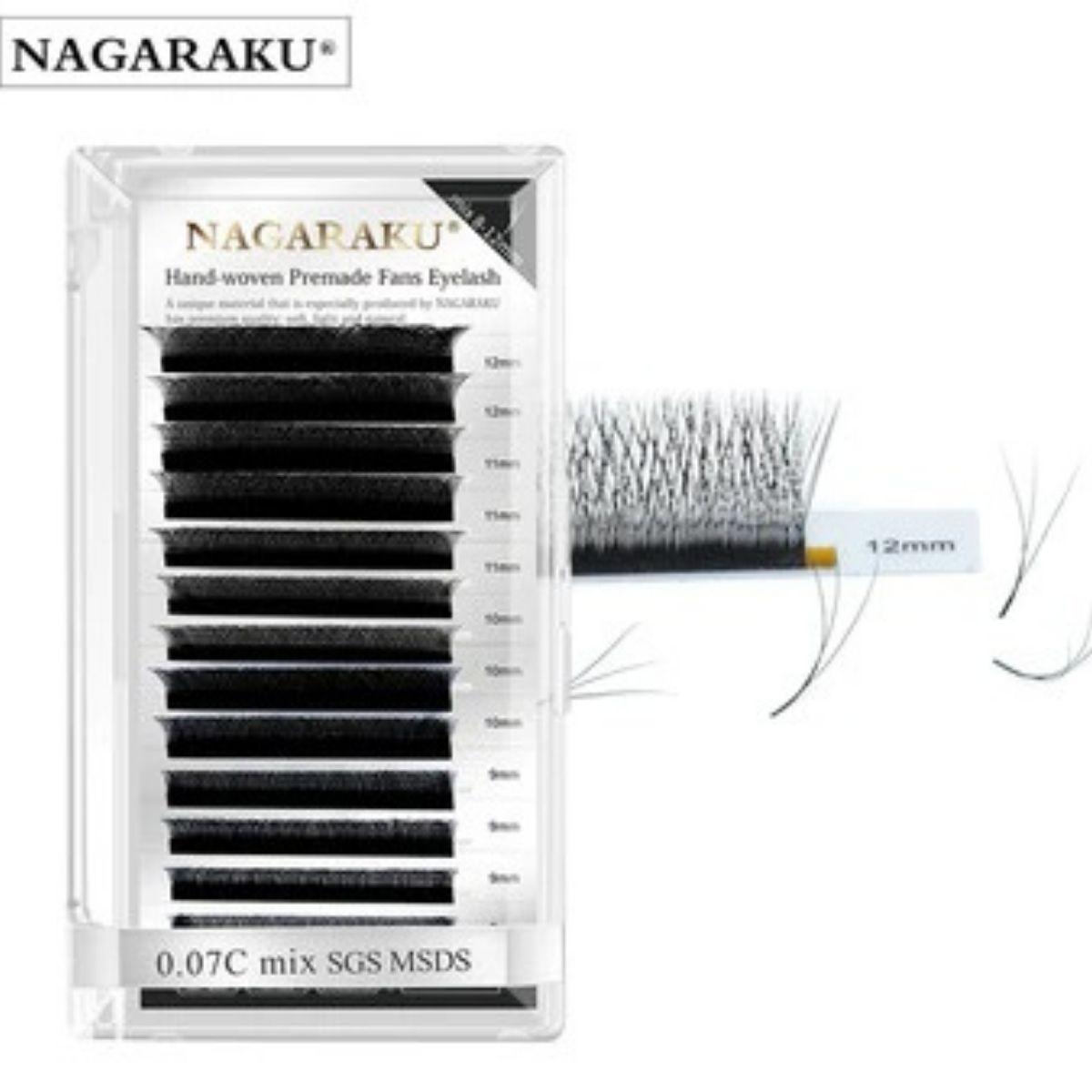 Cílios em W Volume Brasileiro Mix 8 a 12mm Nagaraku