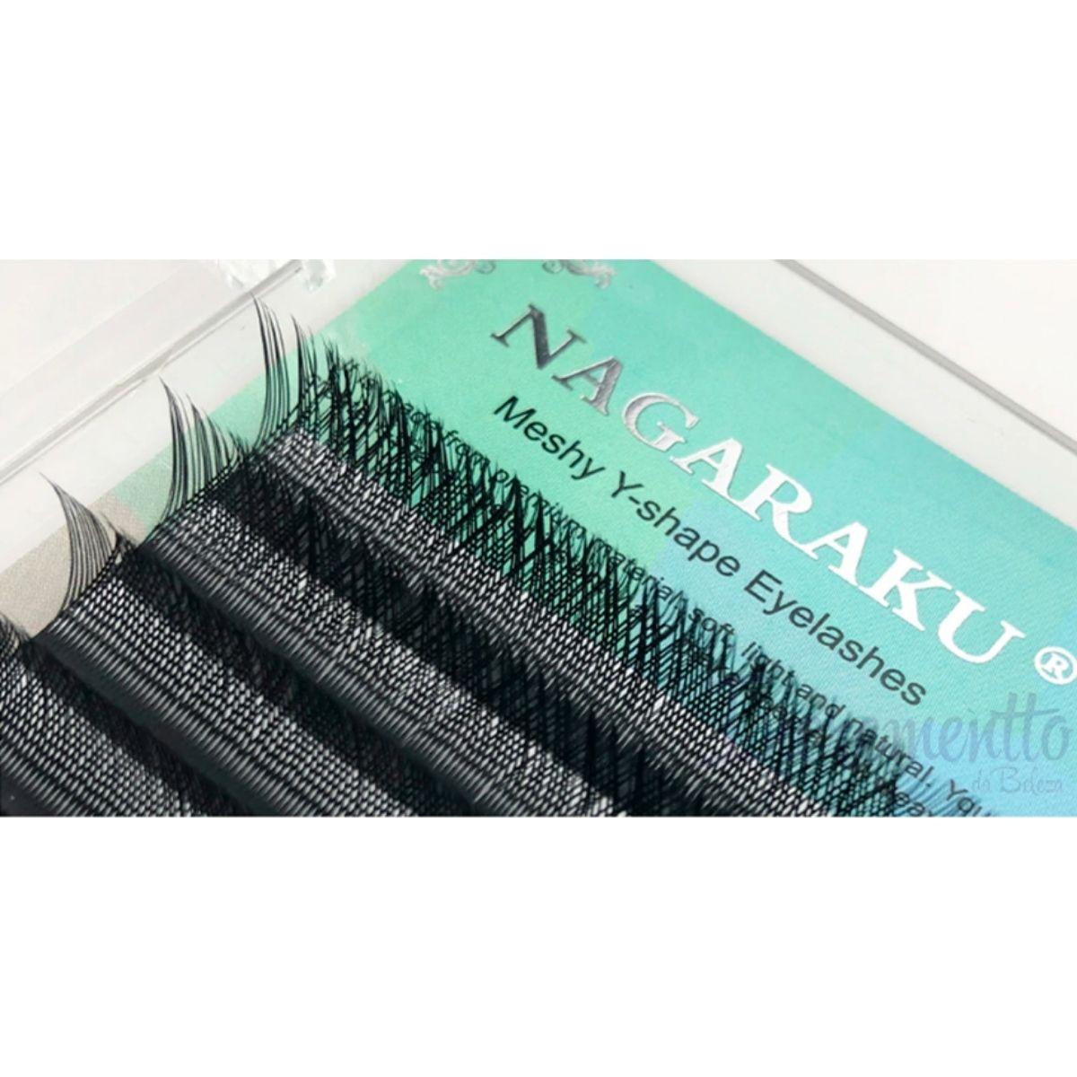 Cílios em Y Volume Brasileiro Mix 8 a 12mm Nagaraku