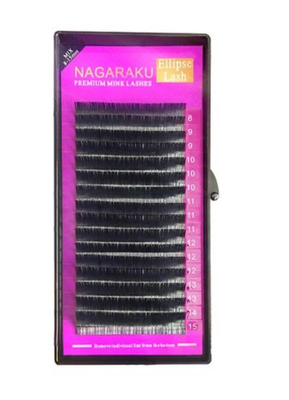 Cílios Ellipse Fio a Fio D 0.20 Mix 8 a 15mm Nagaraku