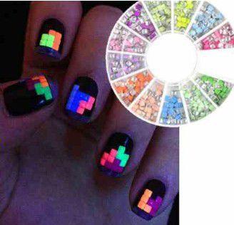 Display Pedrinhas neon para decoração unhas
