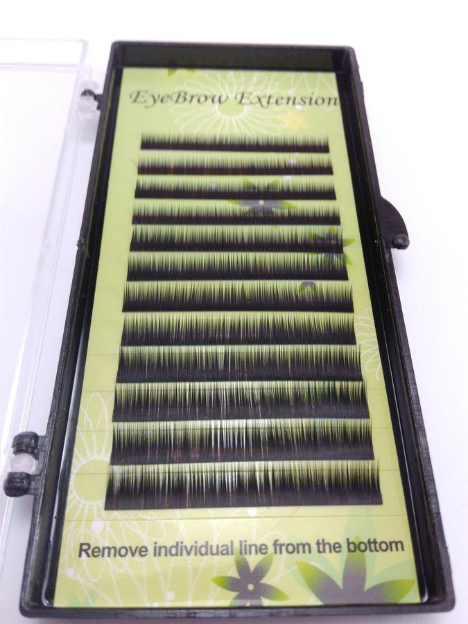 Fios para alongamento de sobrancelhas mix 5 6 7mm 0.10 Black - Preto
