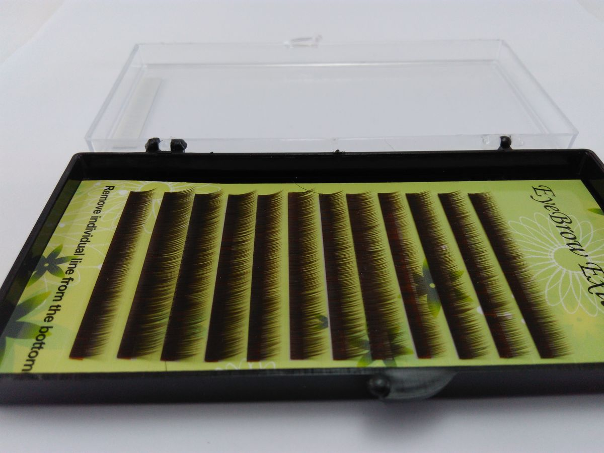 Fios para alongamento de sobrancelhas mix 5 6 7mm 0.10 Dark Brown