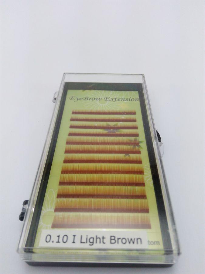 Fios para alongamento de sobrancelhas mix 5 6 7mm 0.10 Light Brown