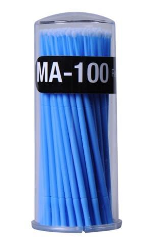 Kit 100 escovas de microfibra MA-100 Regular (azul) para remoção cilios