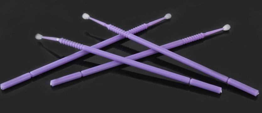 Kit 100 escovas de microfibra MA-102 Ultrafina (roxo) para remoção cilios
