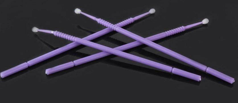 Kit 100 escovas de microfibra tamanho G (laranja/azul/roxo) para remoção cilios