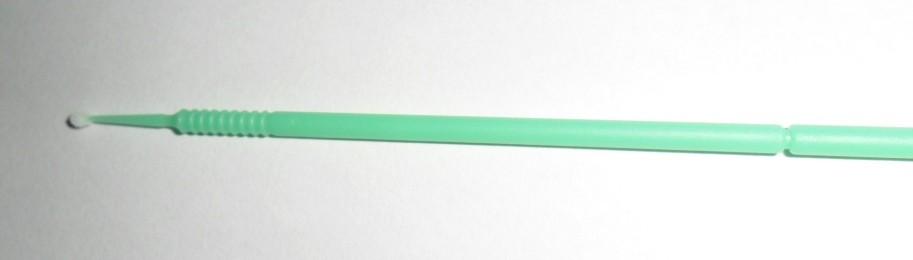 Kit 100 escovas de microfibra tamanho M (verde/amarelo) para remoção cilios