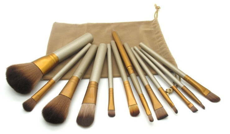 Kit 12 pinceis maquiagem Naked 3 Case Tecido