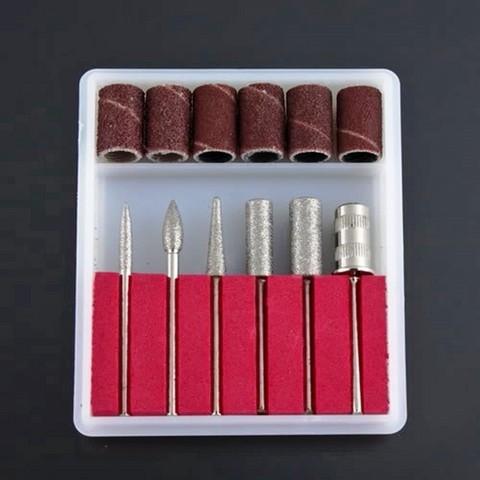 Kit 6 ponteiras + 6 lixas p/ lixa eletrica
