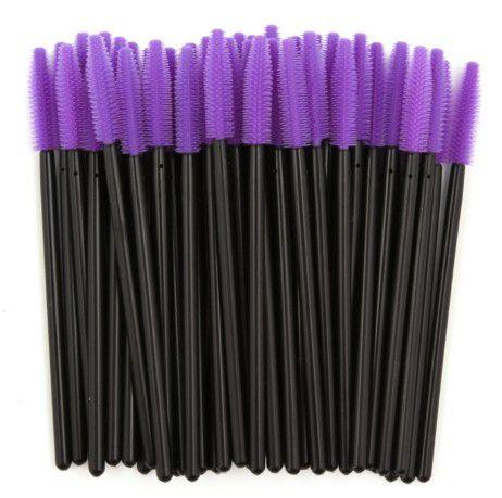 Kit com 25 Bastões silicone escovinha para pentear cílios