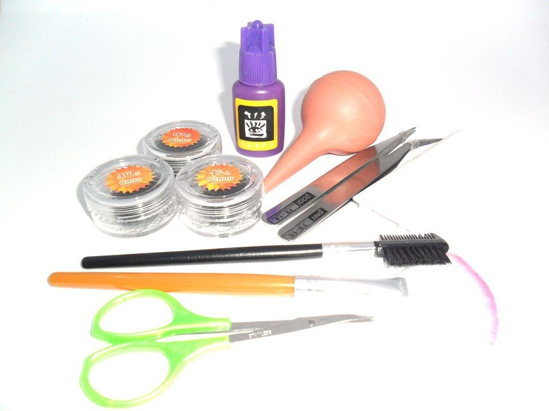 Kit Completo 10 itens Para Alongamento De Cílios Fio A Fio