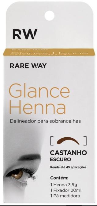 Kit Henna Castanho Escuro Glance Rare Way