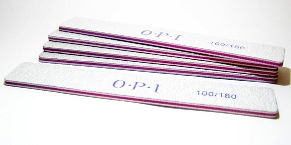 Lixa larga OPI dupla face 100/180 Square