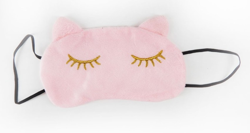 Mascara de dormir gatinho rosa