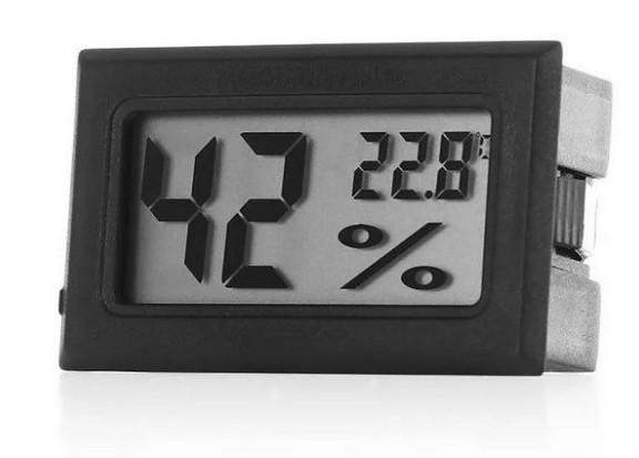 Mini Higrômetro e medidor de temperatura