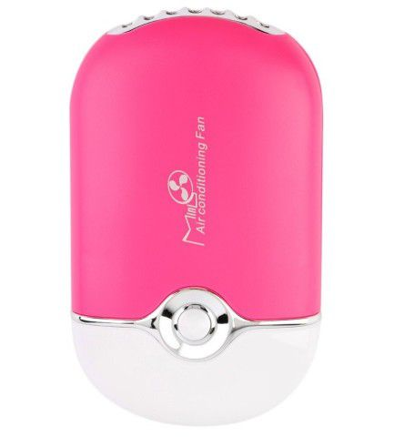 Mini Ventilador Recarregável USB para Secagem de Cola Alongamento de Cílios